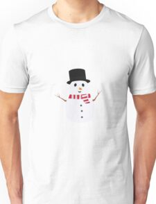 Happy Snowman with winterscarf Unisex T-Shirt