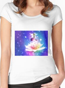Fantasy floral fairy Women's Fitted Scoop T-Shirt