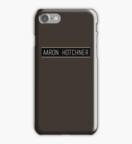 Aaron Hotchner name slate iPhone Case/Skin