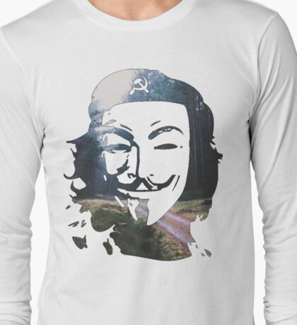 Anonymous Che Guevara, peaceful revolution Long Sleeve T-Shirt