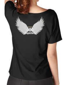 000 Dispatchers Wings - White writing Women's Relaxed Fit T-Shirt