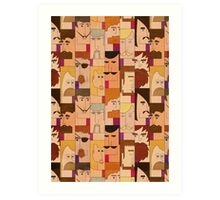 Men with beards Art Print