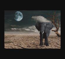 Black Elephant (Desert) One Piece - Long Sleeve