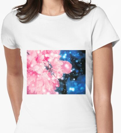 Magic fairy flower 2 Womens Fitted T-Shirt