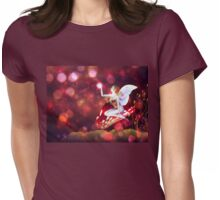 Magic mushroom fairy Womens Fitted T-Shirt