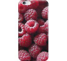 Raspberries close up iPhone Case/Skin