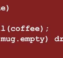 Code for Mug Use - Coffee Sticker