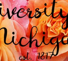 University of Michigan Rose Sticker