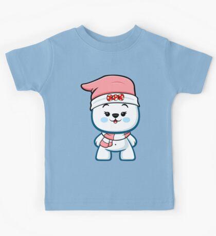 Polar Bear Girl - Christmas Kawaii Kids Tee