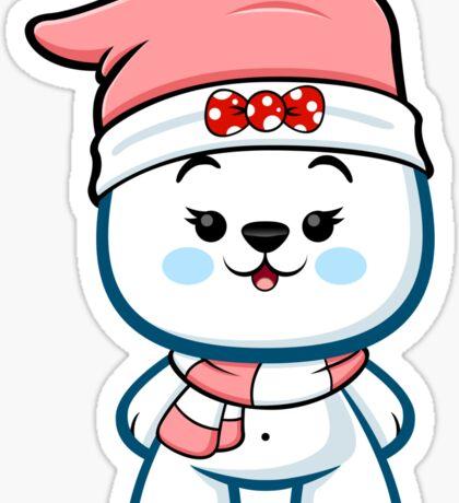 Polar Bear Girl - Christmas Kawaii Sticker