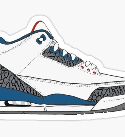 "Air Jordan III (3) ""True Blue"" Sticker"
