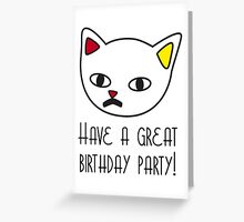 Great birthday party Greeting Card