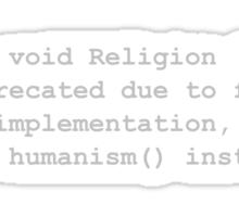 Deprecated Religion, Generic Sticker
