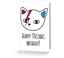 Meowie Birthday Greeting Card