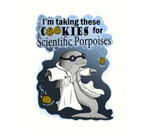 Scientific porpoises Art Print