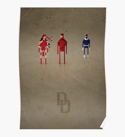 8-bit Marvelous Daring Devil Poster