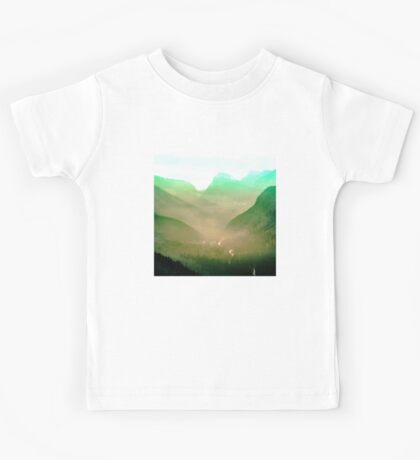 Mountains - Wildfire in the Valley Kids Tee