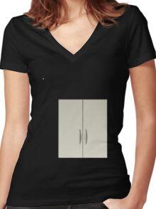 Glitch Furniture bag cabinet alakol 4 4 Women's Fitted V-Neck T-Shirt