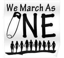 We March As One Poster