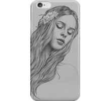 Patience digital illustration of a young girl iPhone Case/Skin