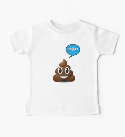 poo emoji poop with speech bubble exclamation Baby Tee