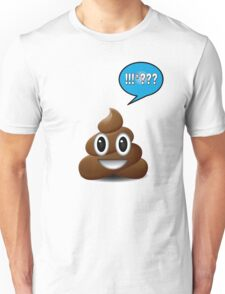 poo emoji poop with speech bubble exclamation Unisex T-Shirt
