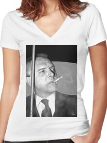 Rik Mayall Women's Fitted V-Neck T-Shirt