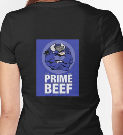 Prime BEEF Womens Fitted T-Shirt