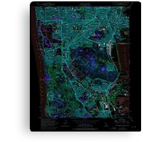 USGS TOPO Map California CA San Francisco South 300071 1956 24000 geo Inverted Canvas Print