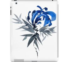 Blue flower iPad Case/Skin