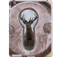 stag through a keyhole iPad Case/Skin