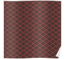Fall Floral Check Pattern Poster