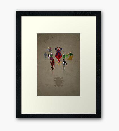 8-bit Man Spider Framed Print