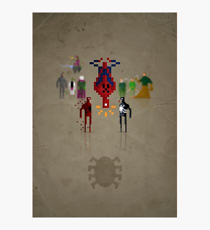 8-bit Man Spider Photographic Print
