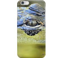 Gator Eye (Alligator mississippiensis) iPhone Case/Skin