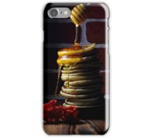 A stack of pancakes with honey iPhone Case/Skin