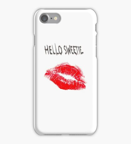 Hello Sweetie Kiss Kiss iPhone Case/Skin