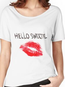 Hello Sweetie Kiss Kiss Women's Relaxed Fit T-Shirt