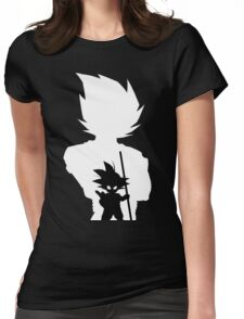 Goku and Kid Goku Womens Fitted T-Shirt