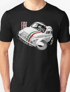 Classic Fiat 500 Nuova caricature white T-Shirt