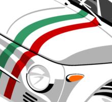 Classic Fiat 500 Nuova caricature white Sticker