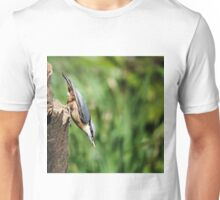 Nuthatch with seed Unisex T-Shirt