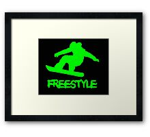 snowboard freestyle Framed Print