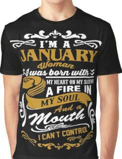 I'm A January Woman Graphic T-Shirt