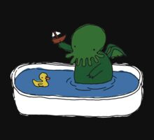 Bathtime for Cute-thulhu One Piece - Short Sleeve