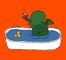 Bathtime for Cute-thulhu Kids Tee