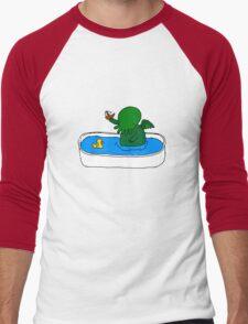 Bathtime for Cute-thulhu Men's Baseball ¾ T-Shirt