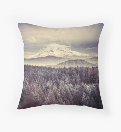 Mountains - Mt. Hood Remember the Snow Throw Pillow
