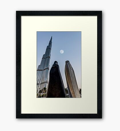 Together in front of the universe Framed Print