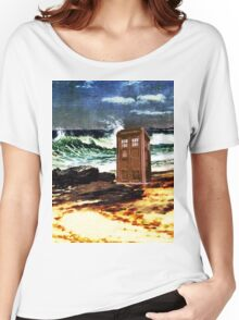 tardis on the waterfront Women's Relaxed Fit T-Shirt